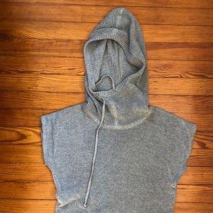 Athleta, gray knit, pullover, Small